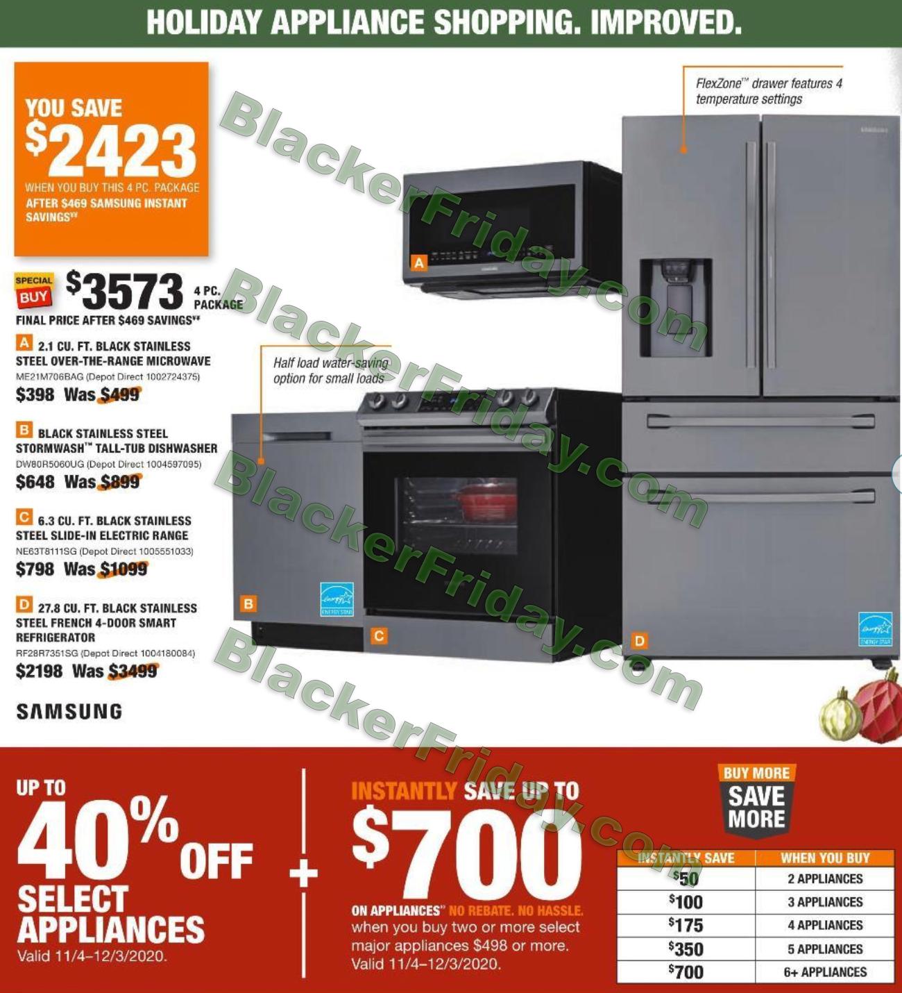 Home Depot Black Friday Deals 2020 Appliances Black Friday Appliance Deals 2020
