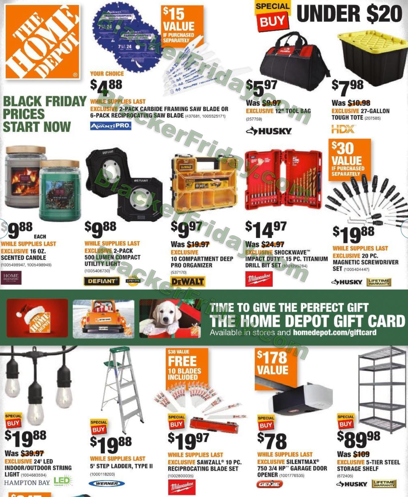 Home Depot Black Friday 2021 Ad Sale Details Blacker Friday