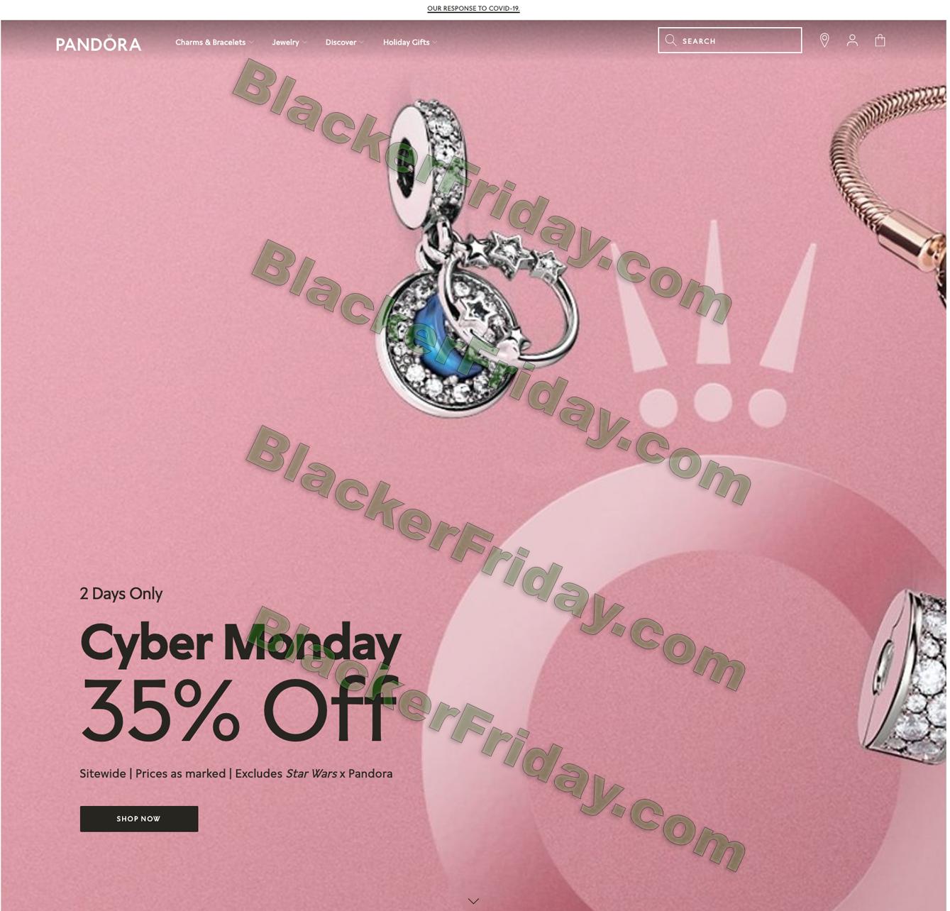 Pandora Cyber Monday 2021 Sale Holiday Charm Blacker Friday